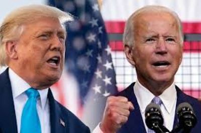 An image showing former President Trump and President Biden