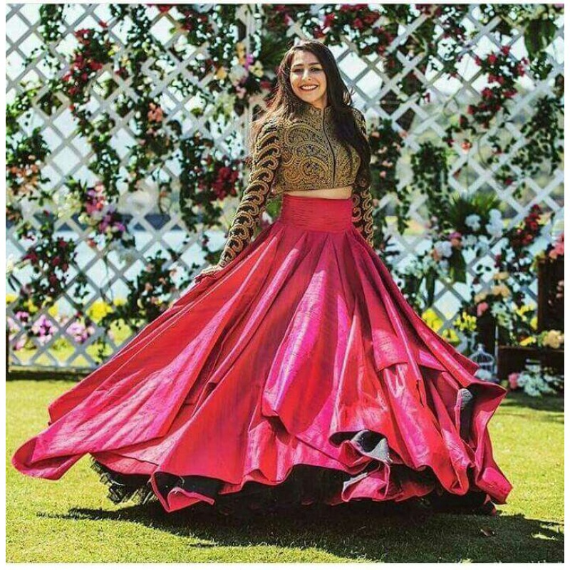 Set The Trend This Season With Crop Tops With Skirts By Manish Manral Medium We're liking the crop top and skirt combo as a glam alternative to a dress this party season. crop tops with skirts