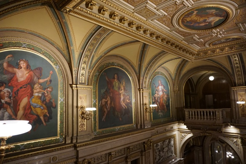 Inside the Vienna State Opera, ceiling art