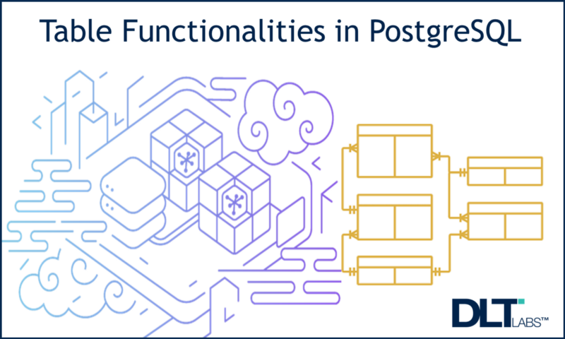 An abstract image depicting the functionalities of tables in postgresql