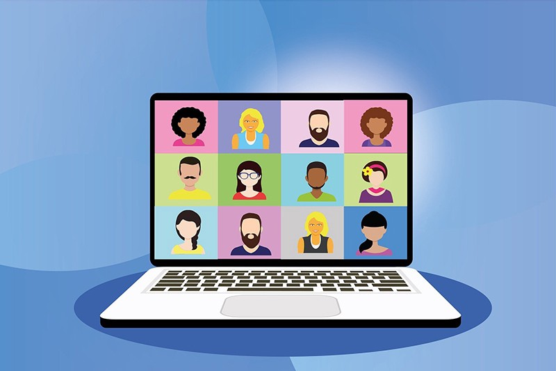 Image result for virtual business meeting clipart