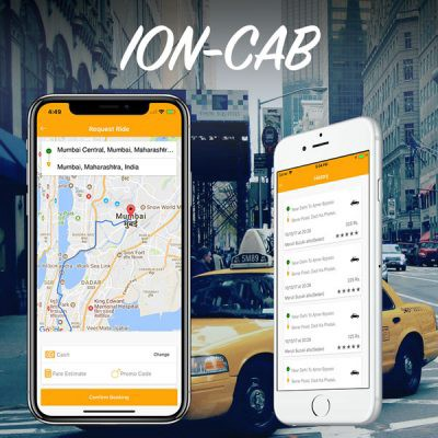 Taxi Booking app and Driver app complete starter kit (Ionic 4)