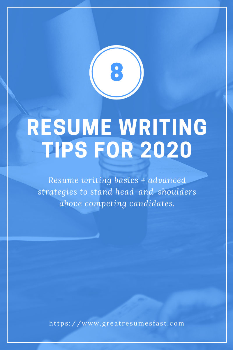 8 Resume Writing Tips For 2020 Did You Know That The Average Job