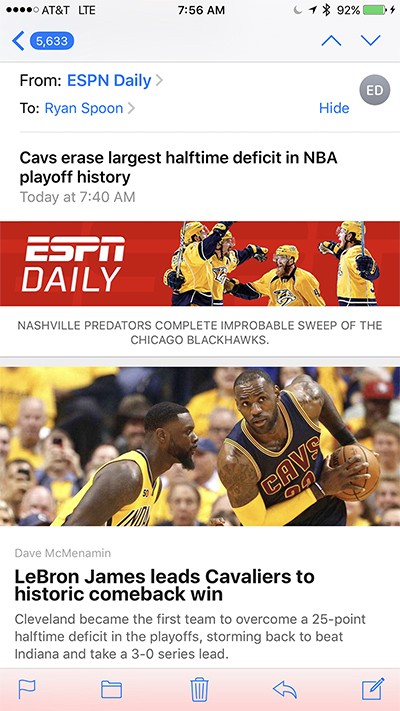 New To Espn Digital Over The Last Couple Weeks Several New Features And Updates Have Rolled Out By Ryan Spoon Medium
