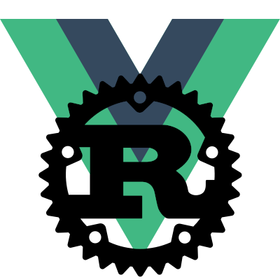 Rust and Vue logos