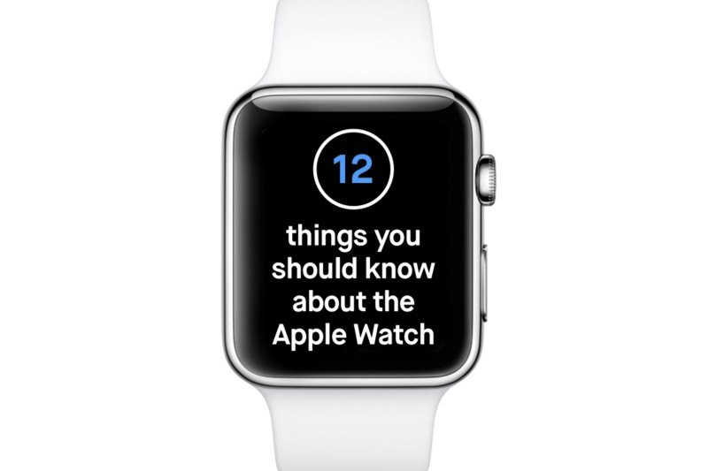 Four Premises about the Apple Watch You Should Know