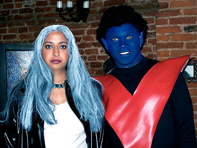 Cosplaying Storm and Nightcrawler from the X-Men for Halloween