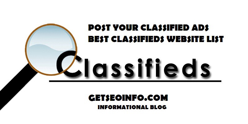 Best Indian Free Classifieds Websites List with High DA, PA & PR | by Get  SEO Info | Medium