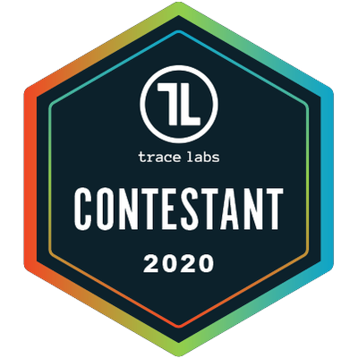 Trace Labs Contestant 2020 Badge