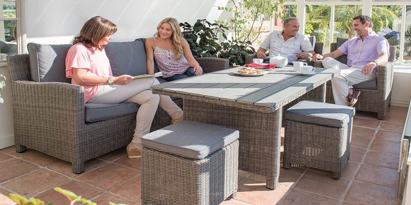 Rattan Outdoor Furniture Set For A Small And Medium Sized Garden By Garden Furniture Spain Medium