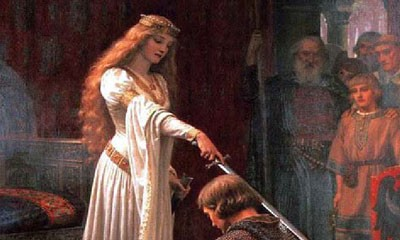 Detail from The Accolade by Blair Leighton