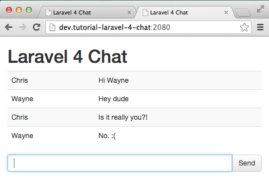 Laravel 4 Real Time Chat by Christopher Pitt | digitalwhores