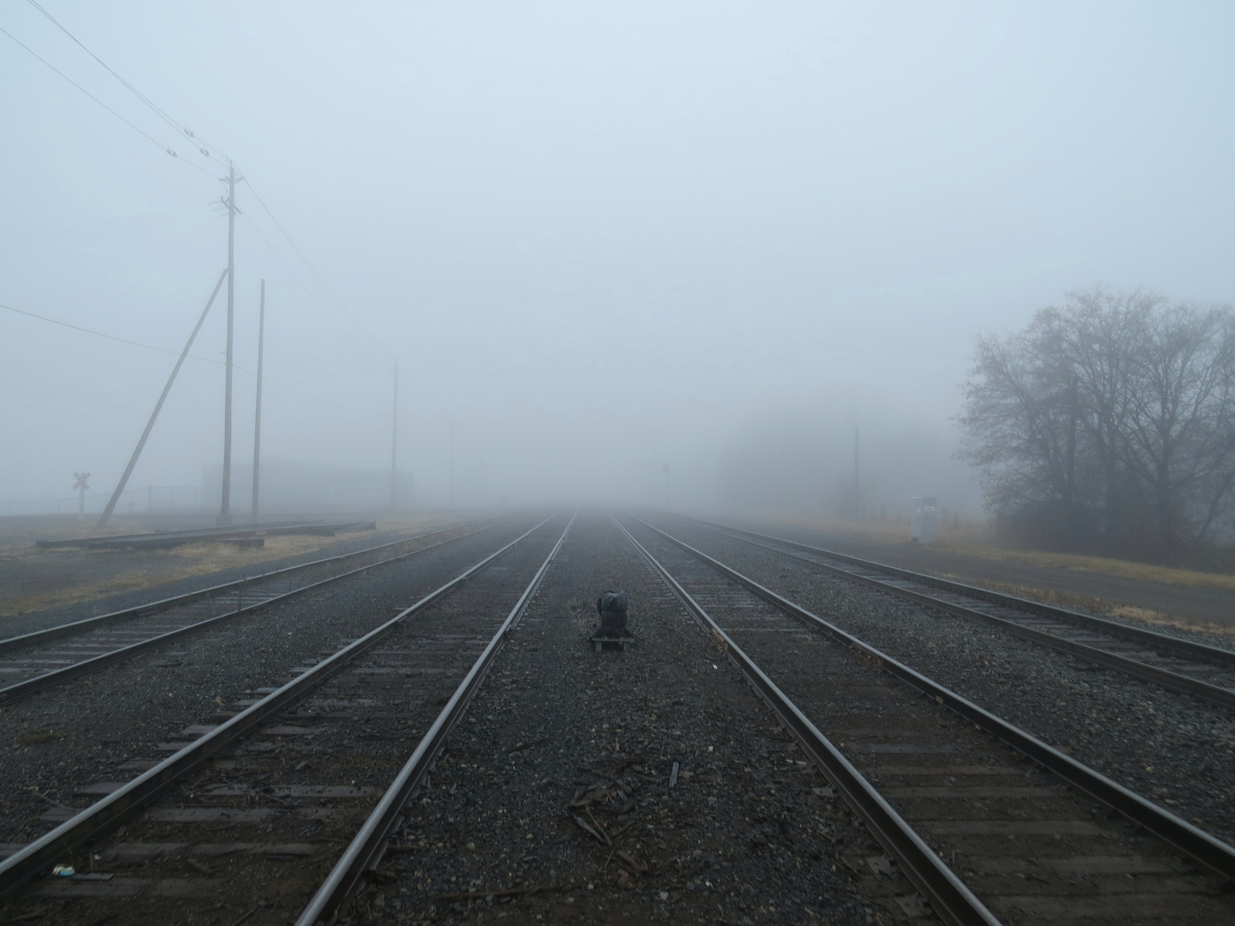 Low trains visibility.