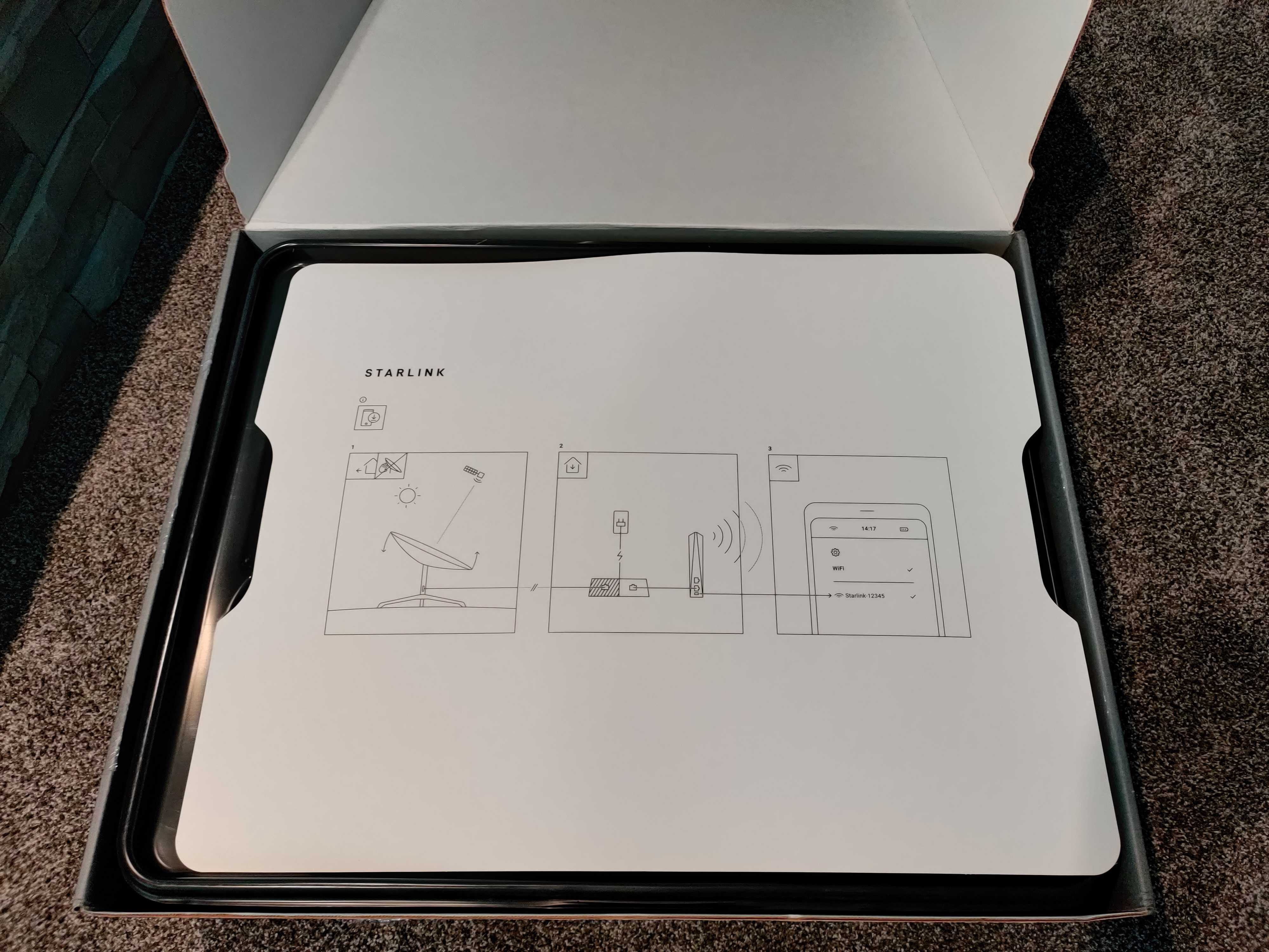 Instructions included in Starlink box