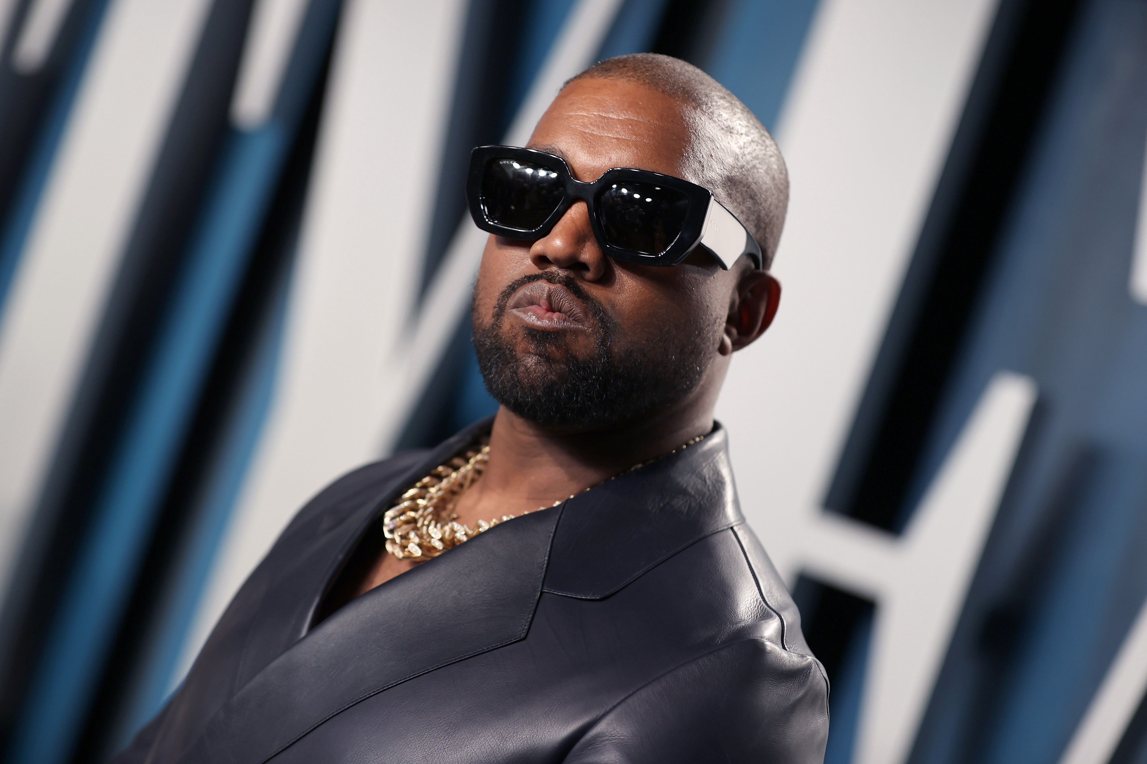 Kanye West attends the 2020 Vanity Fair Oscar Party.