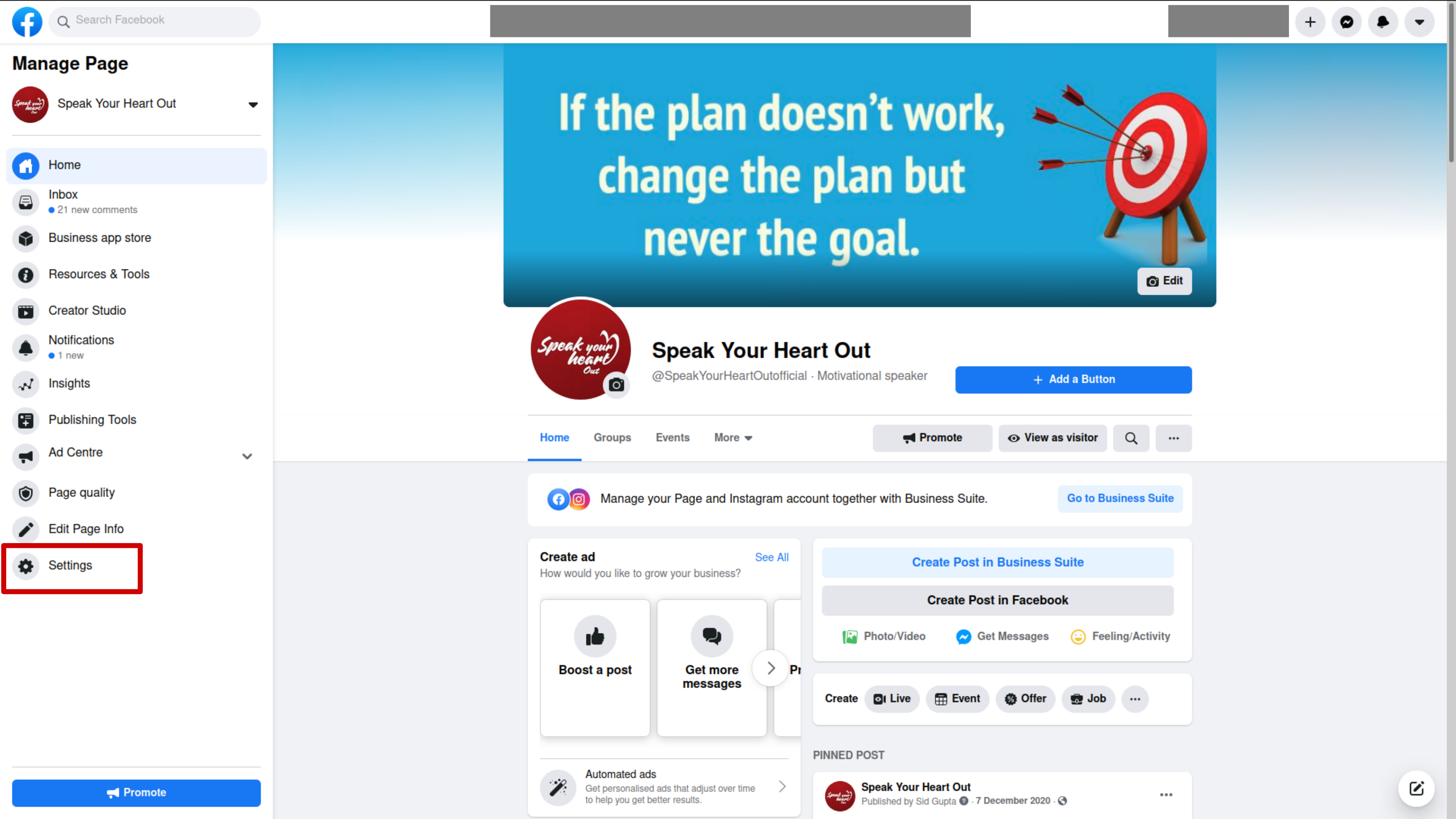 The procedure to schedule your Facebook Page and Instagram post with Facebook Business Suite
