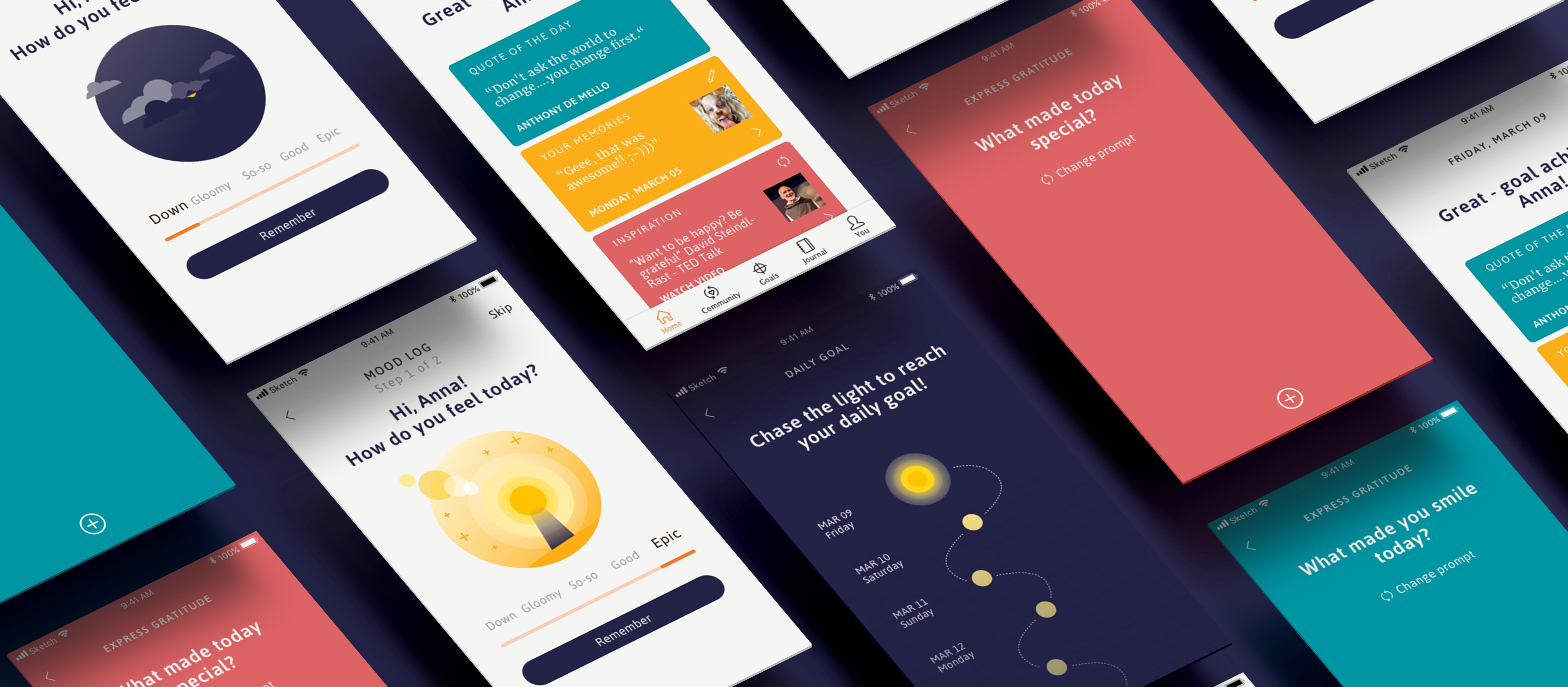 UX/UI Case Study: Lighthouse — learn positive thinking with