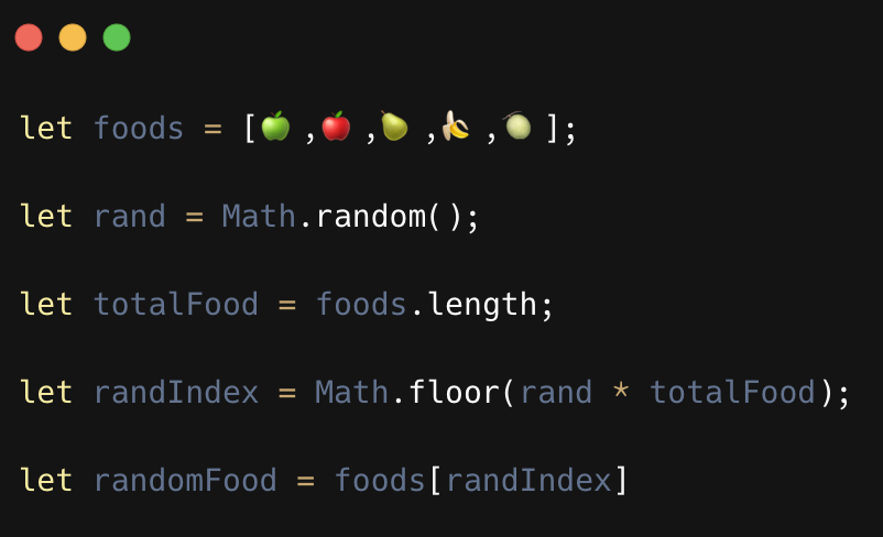 Playing with array in javascript using Math random()
