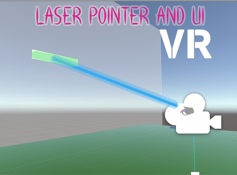 Laser Pointer with UI Buttons Unity3D for VR - Danielle