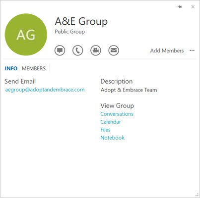 Skype's subtle integration with Office 365 Groups — Outlook, Yammer