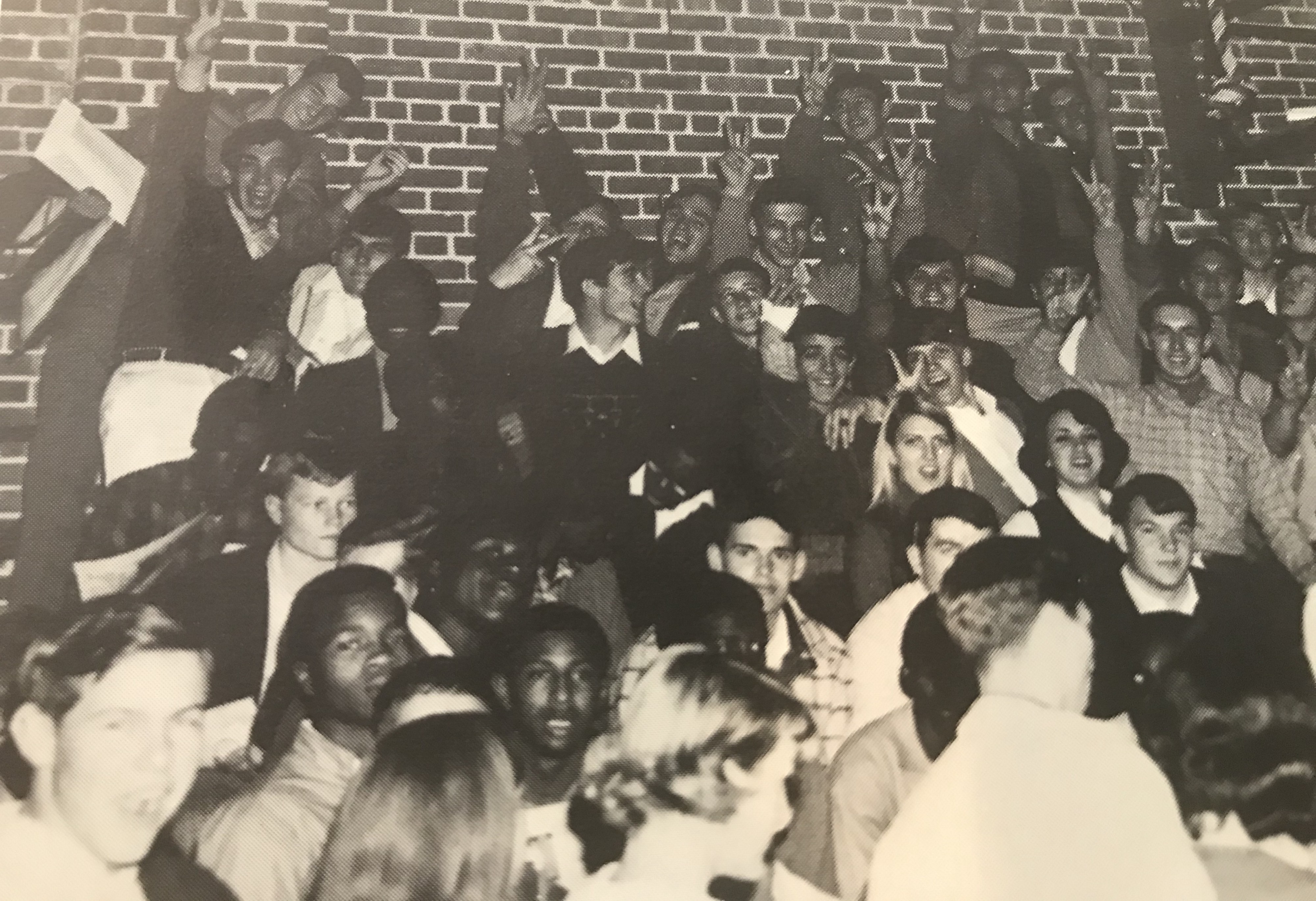 Senior Section of a Rally at Woodruff High School 1969
