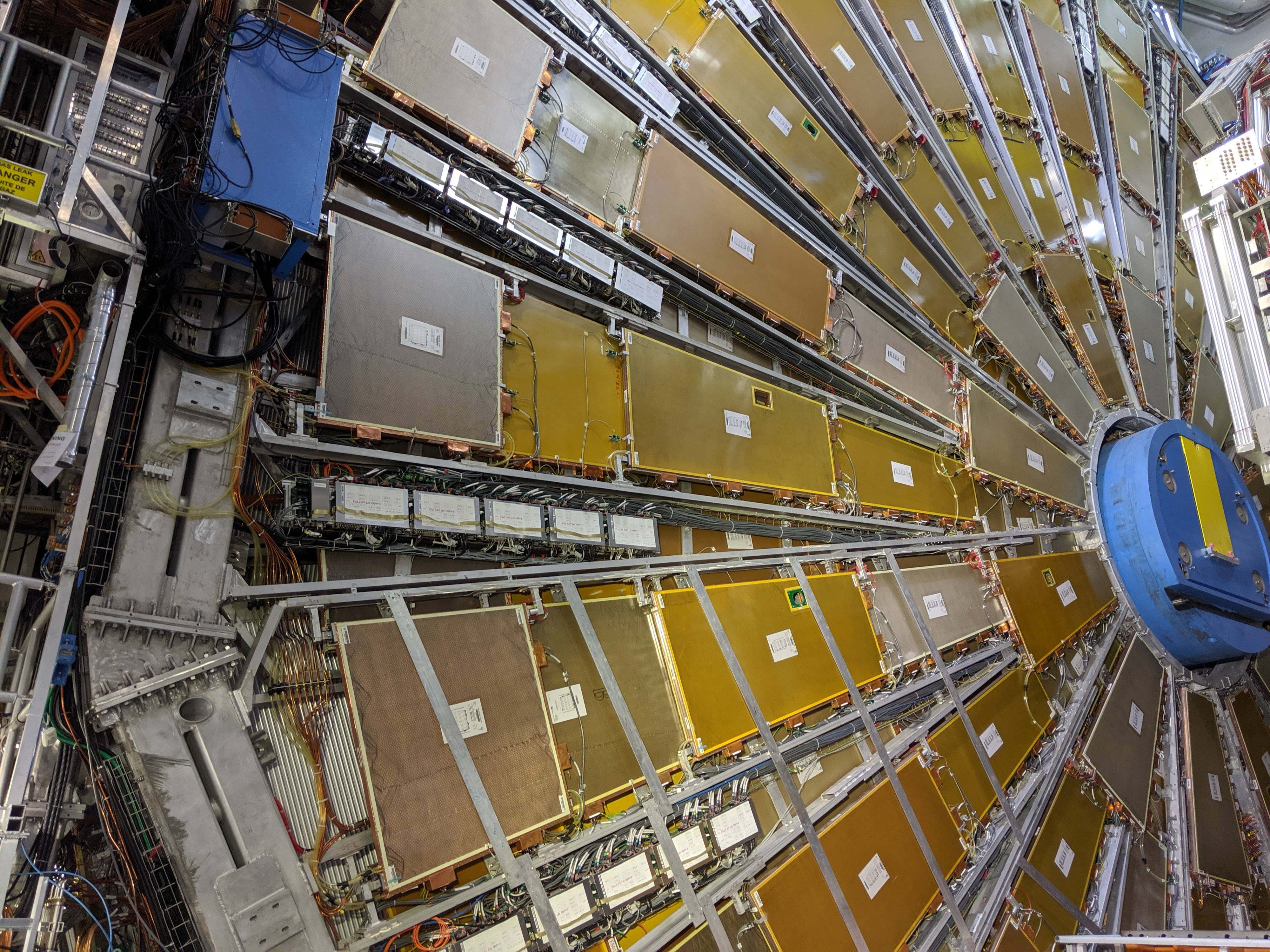 ATLAS detector at the LHC, as viewed from underground