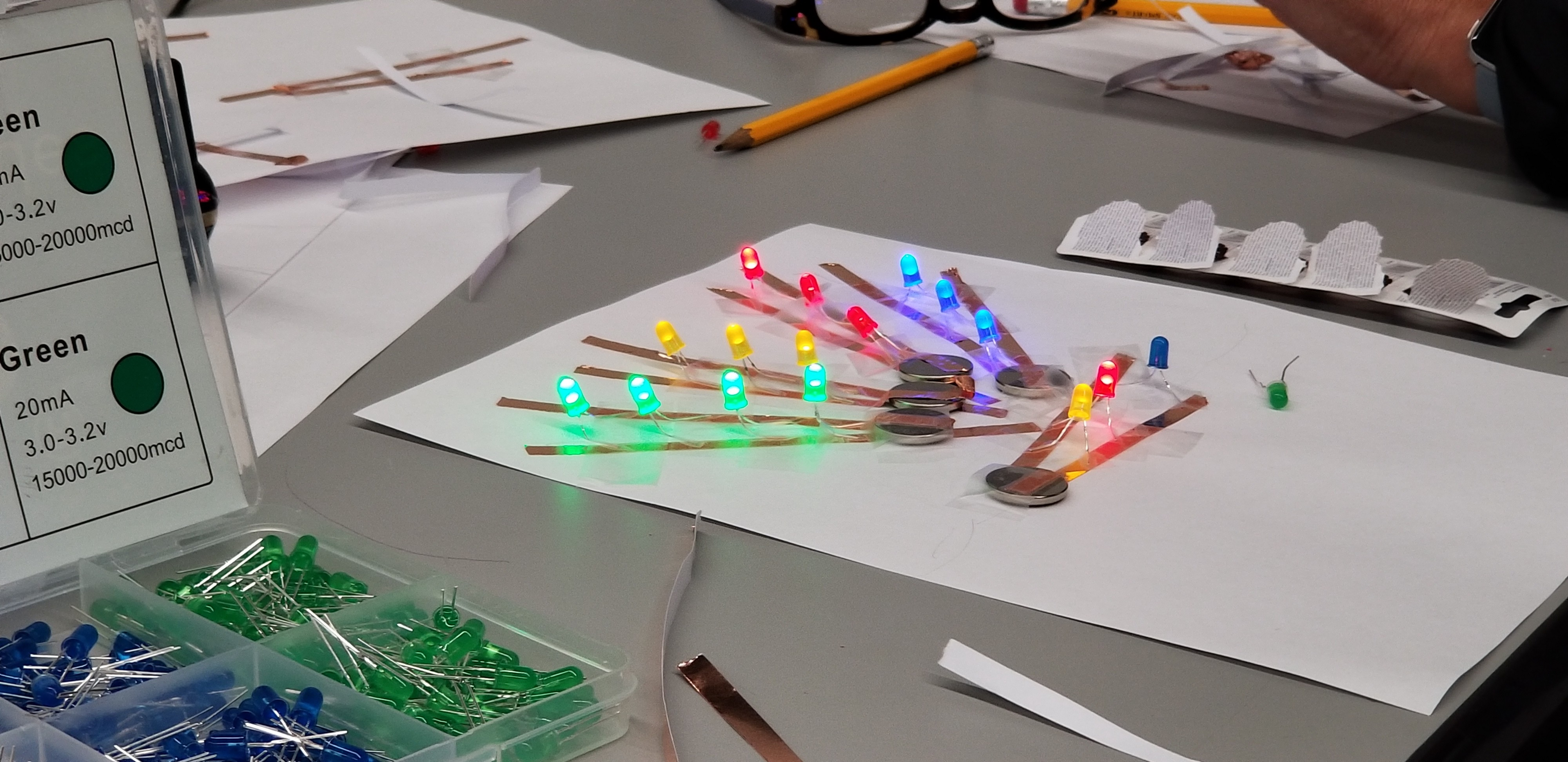 My note card in Paper Circuitry