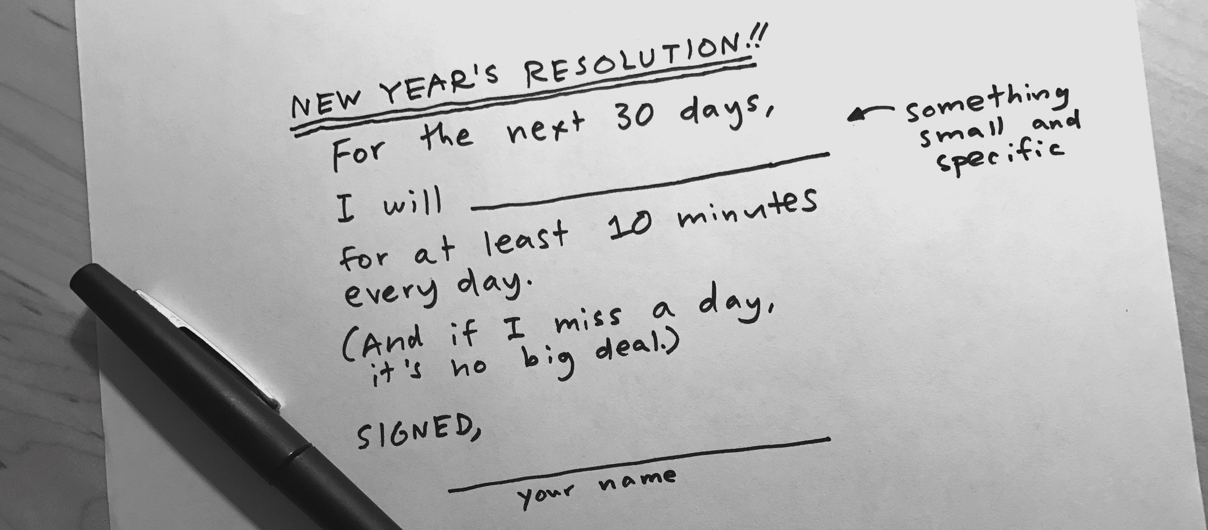 The Slacker's Guide to New Year's Resolutions That Stick