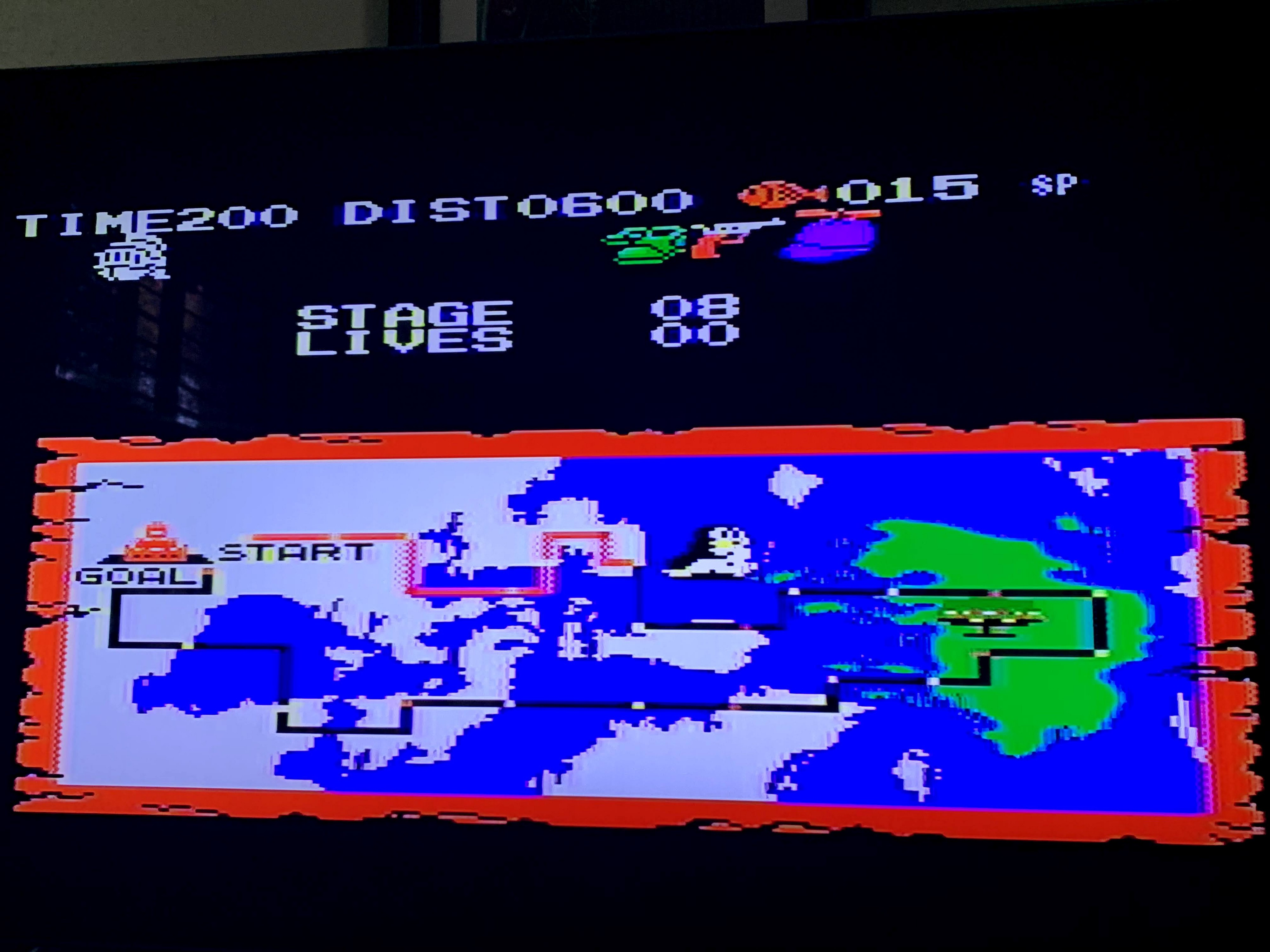A map showing the player's progress through the game's map.