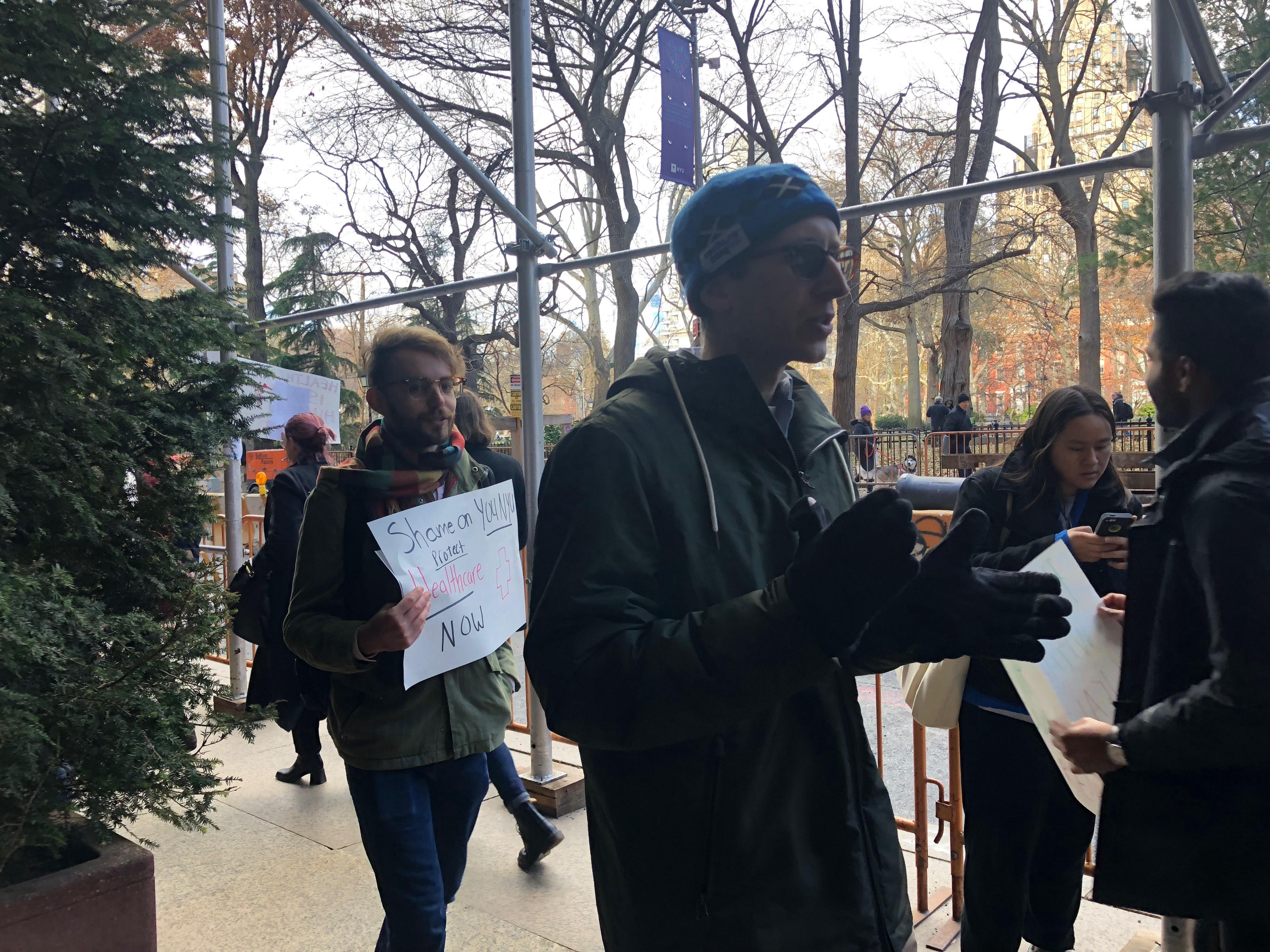 Graduate Students Protest Elimination of Healthcare Plan