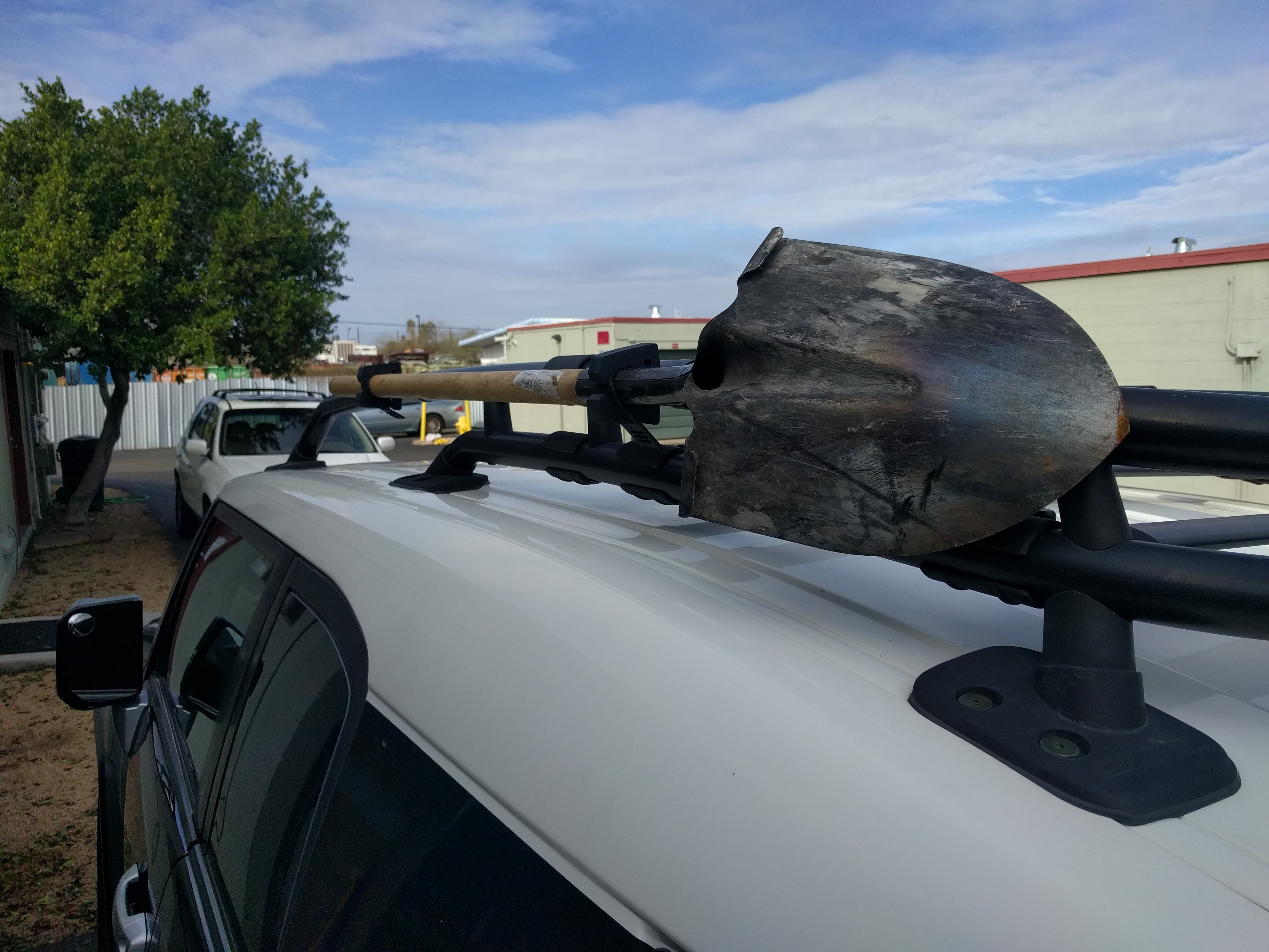 Diy Fj Cruiser Roof Rack Axe Shovel And Tool Mount By J J Kniv Supply Co Overland Expeditions And Journal Medium
