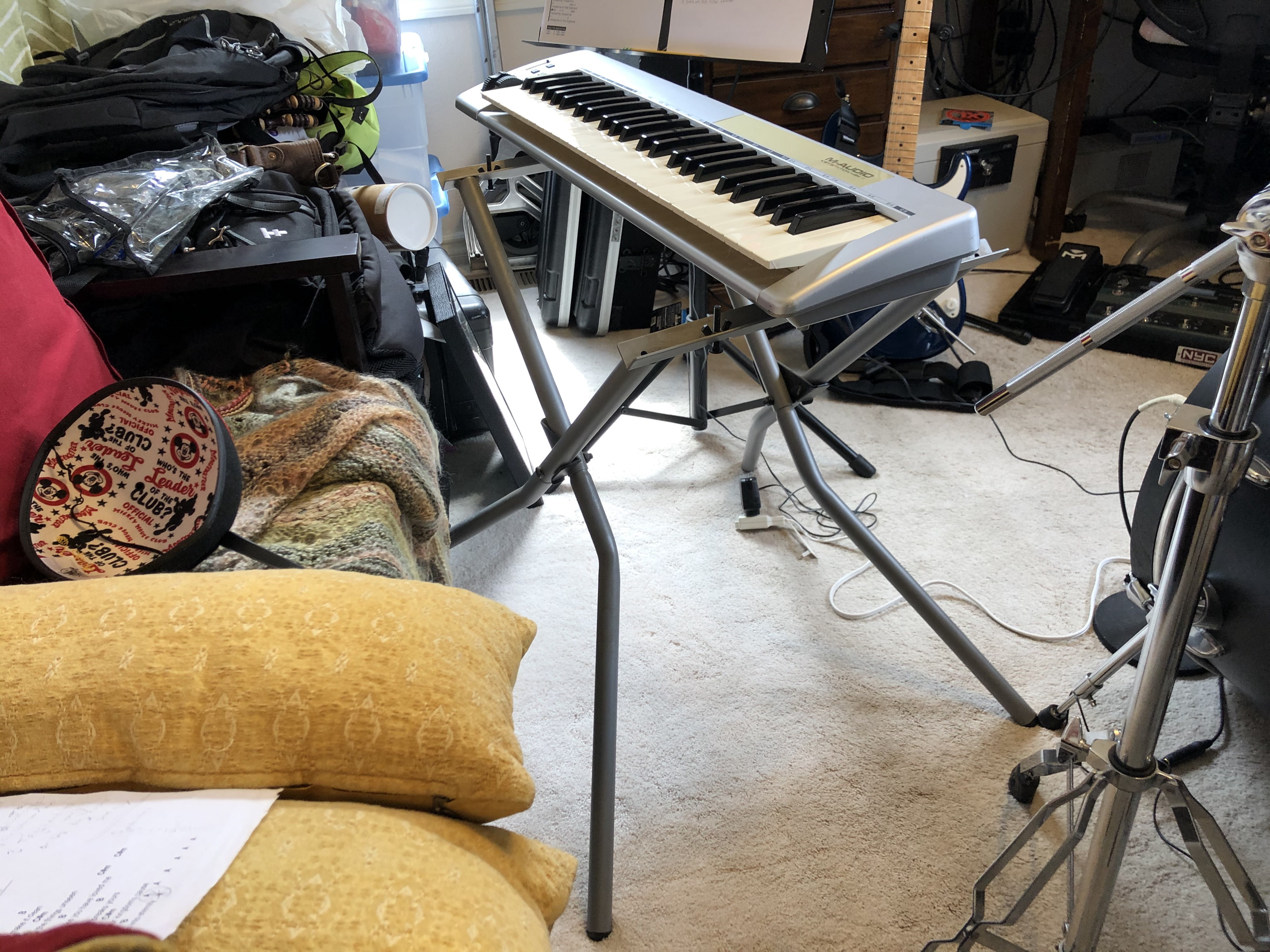MIDI keyboard controller and stand.