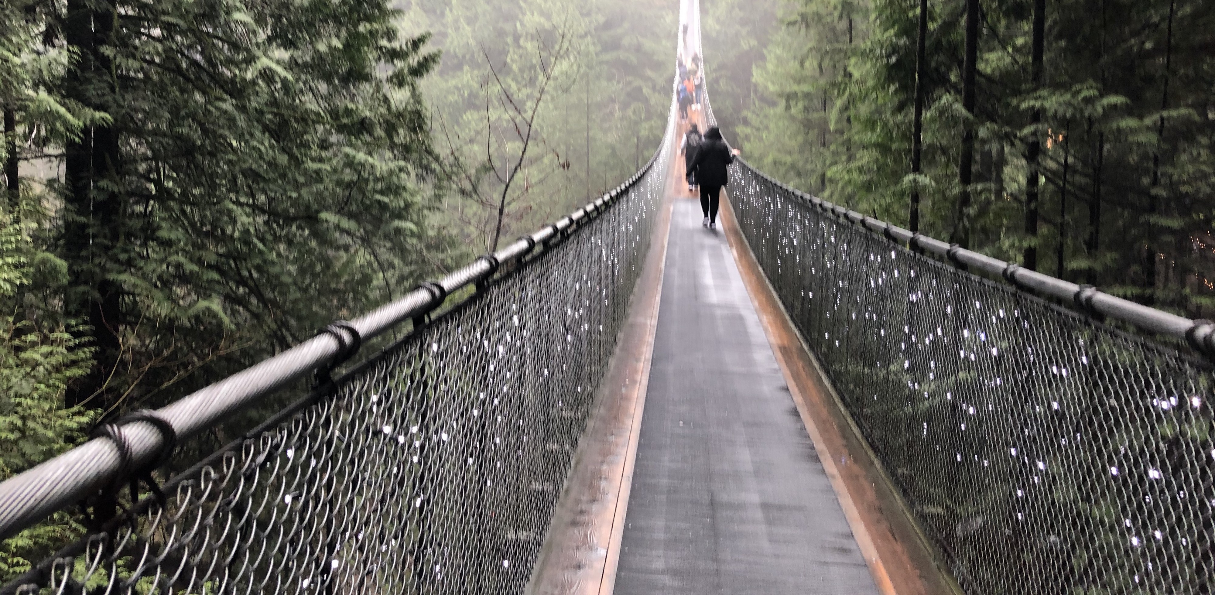 Long hanging bridge, where the end can not be seen.