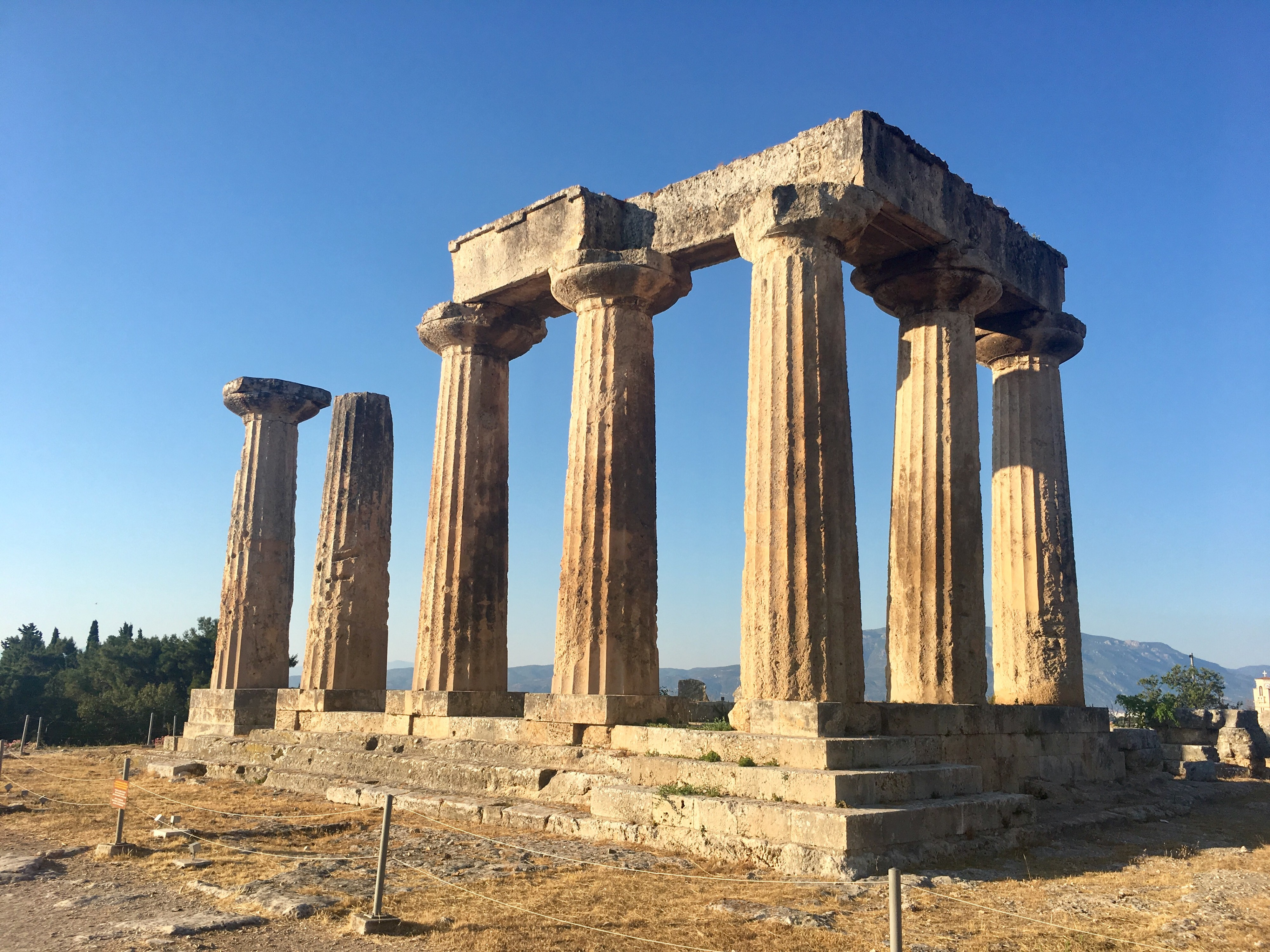 Close-up of the Temple of Apollo in Corinth