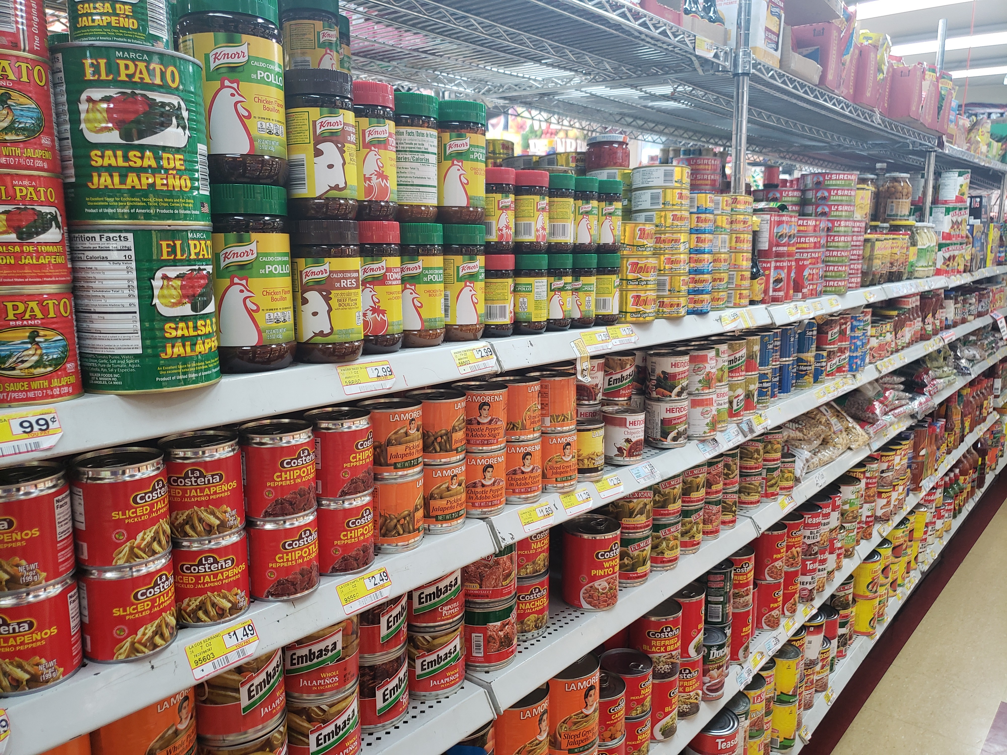 Canned chiles and more at Gazzali's Better Trade Market
