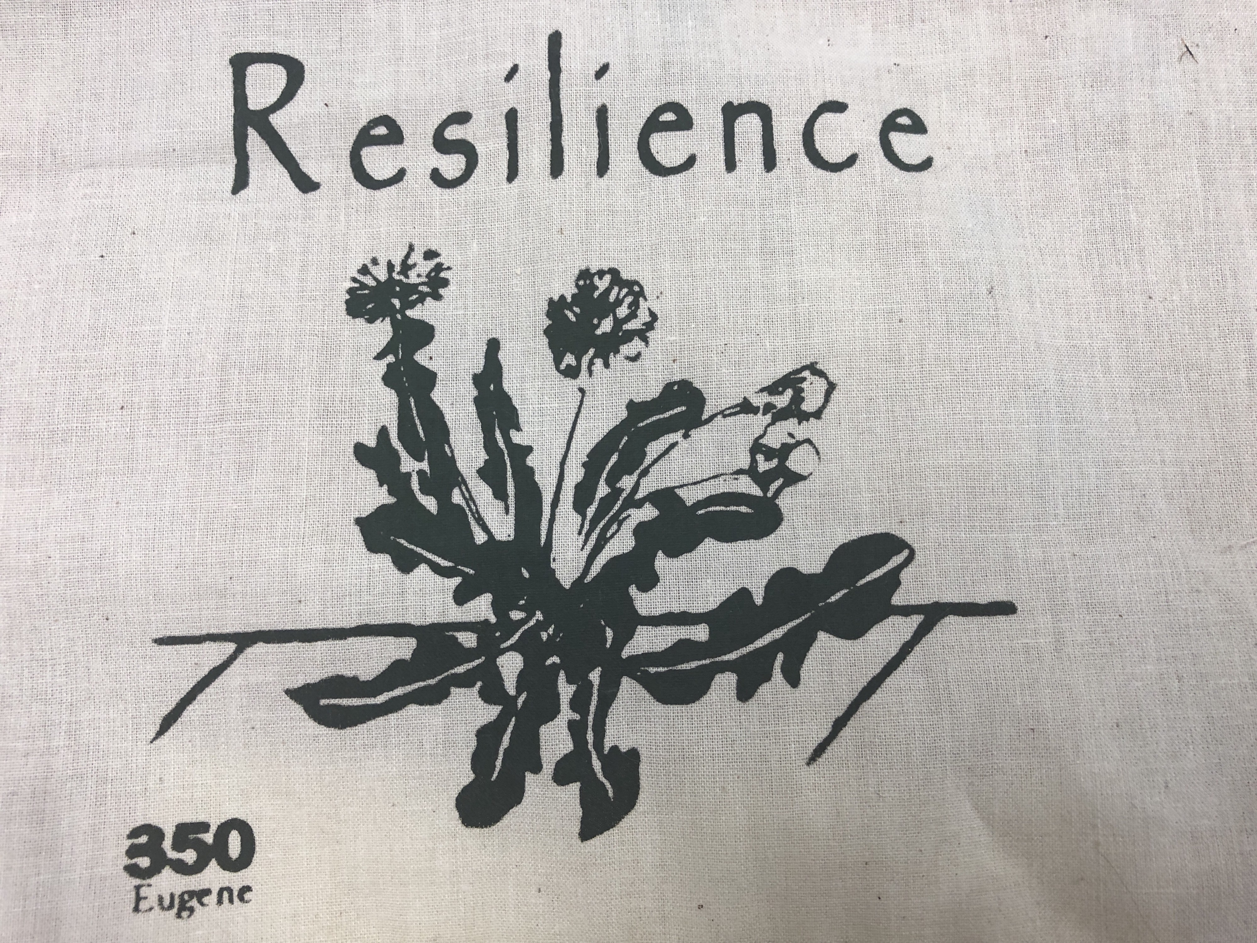 Screen print of dandelion as symbol of resistance