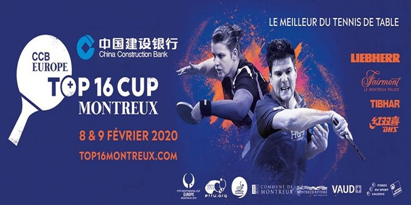 Stream Table Tennis Top 16 Cup Montreux 2020 Livestream 2020