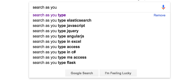 Elasticsearch: Building AutoComplete functionality