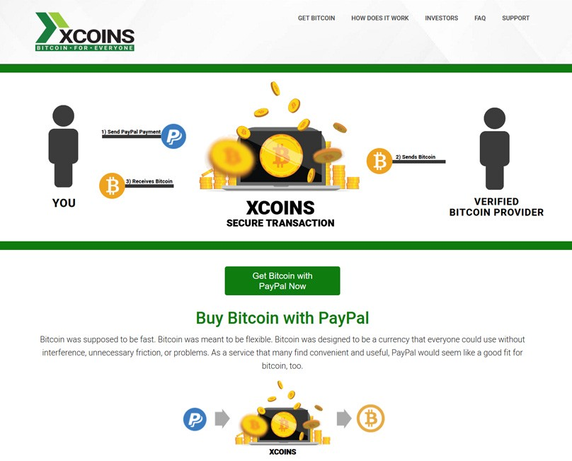 Xcoins buy with paypal