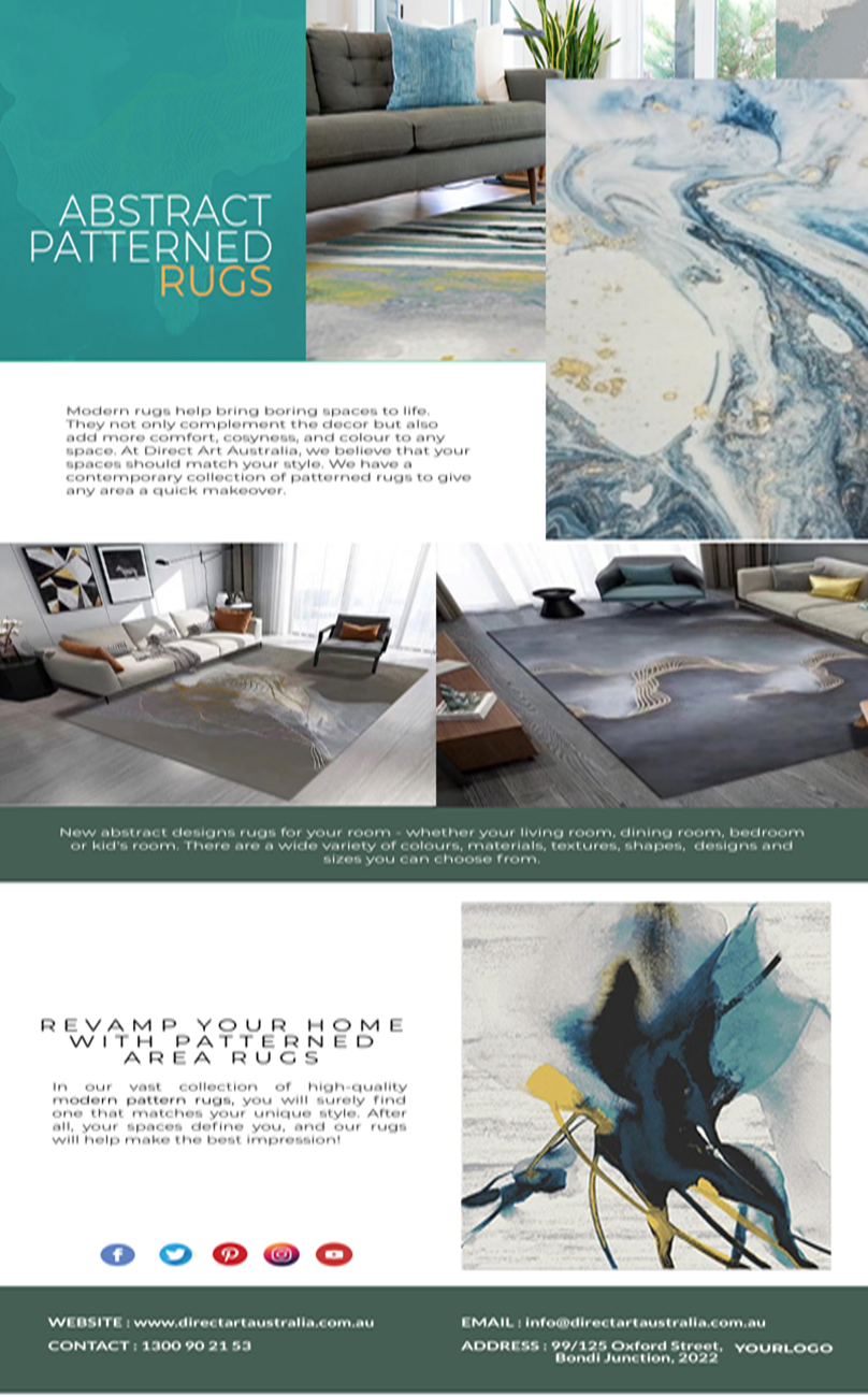 Embellish Your Floors With Modern Rugs