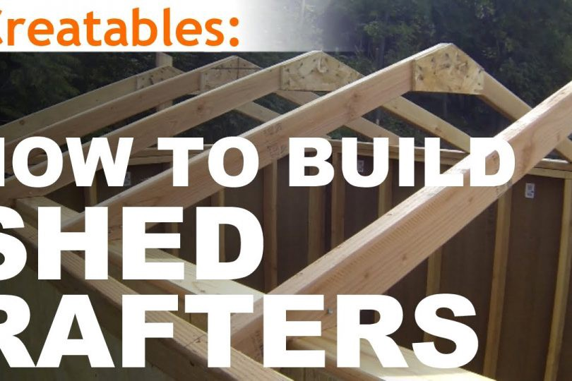 How To Build A Shed Part 4 Building Roof Rafters