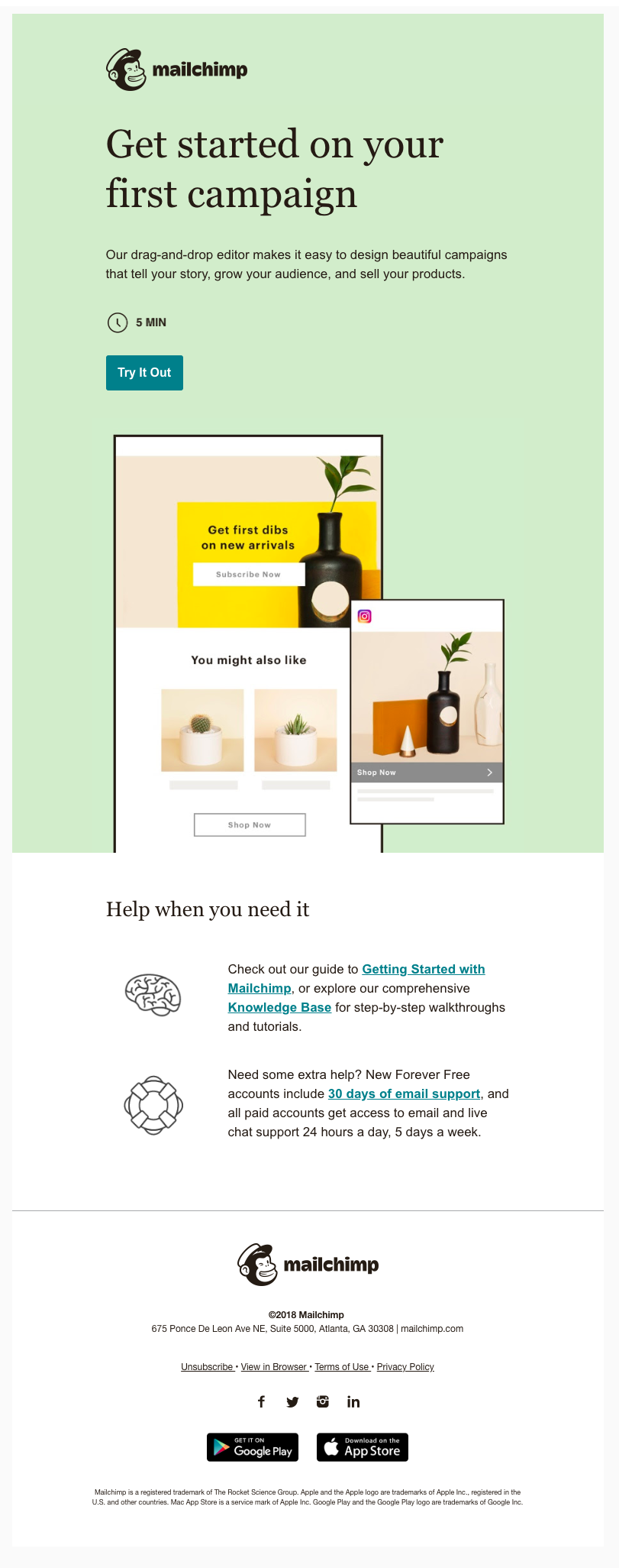 Getting started on MailChimp email marketing campaign