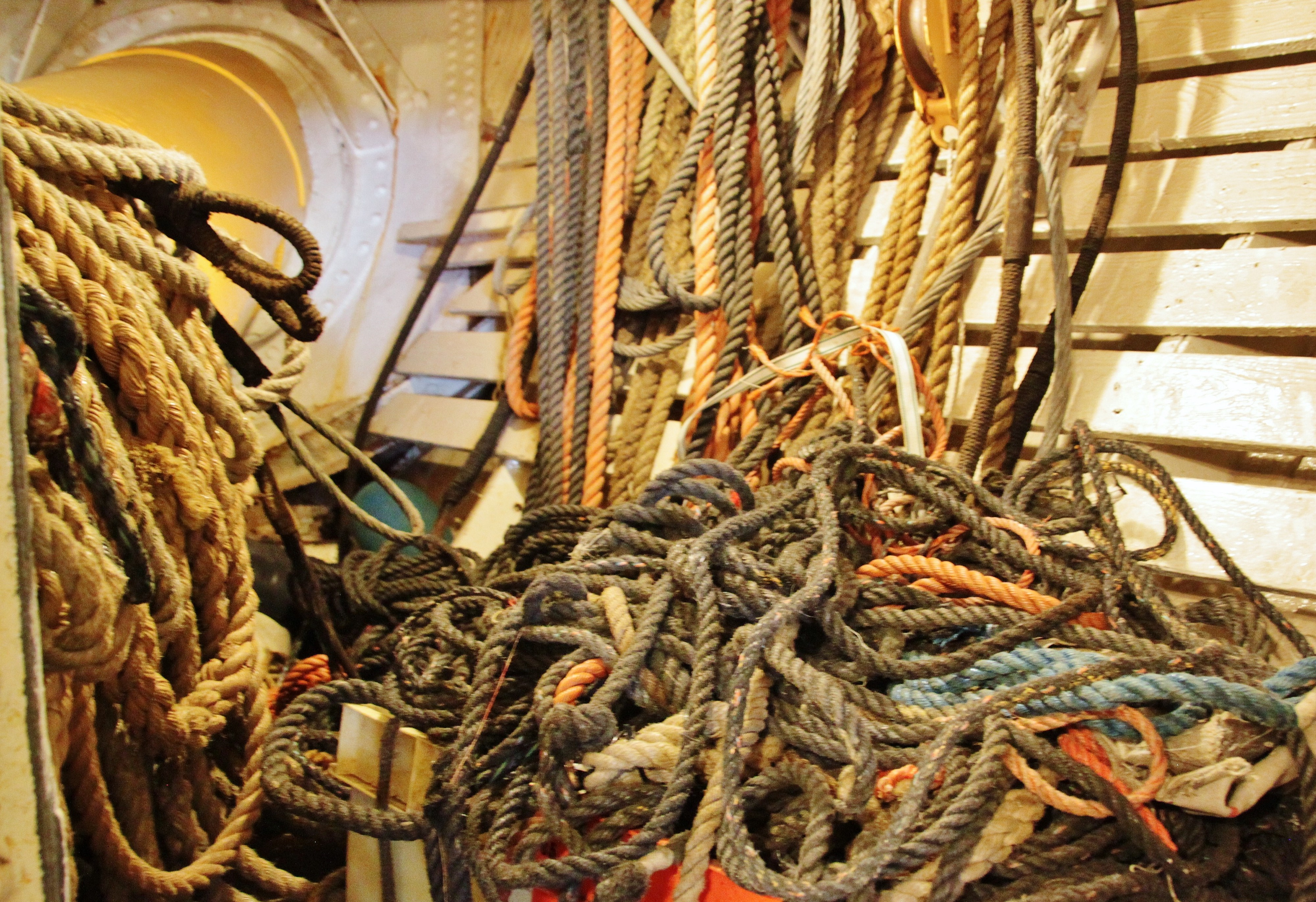 A tangled mess of ropes.