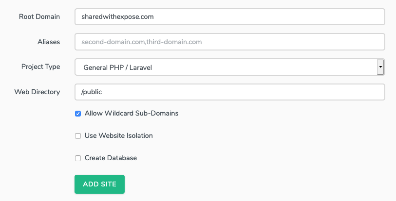 Installing Expose on a Laravel Forge server with a custom domain and wildcard SSL