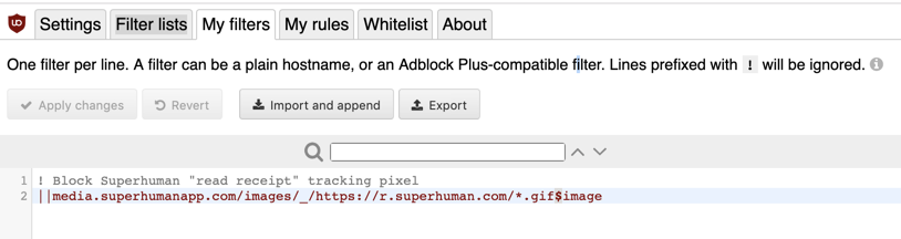 How to disable email tracking pixels in Superhuman - Chad
