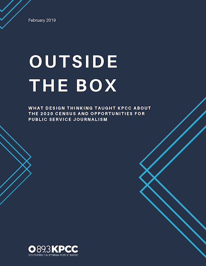 """""""Outside the Box"""" human-centered design census research report"""