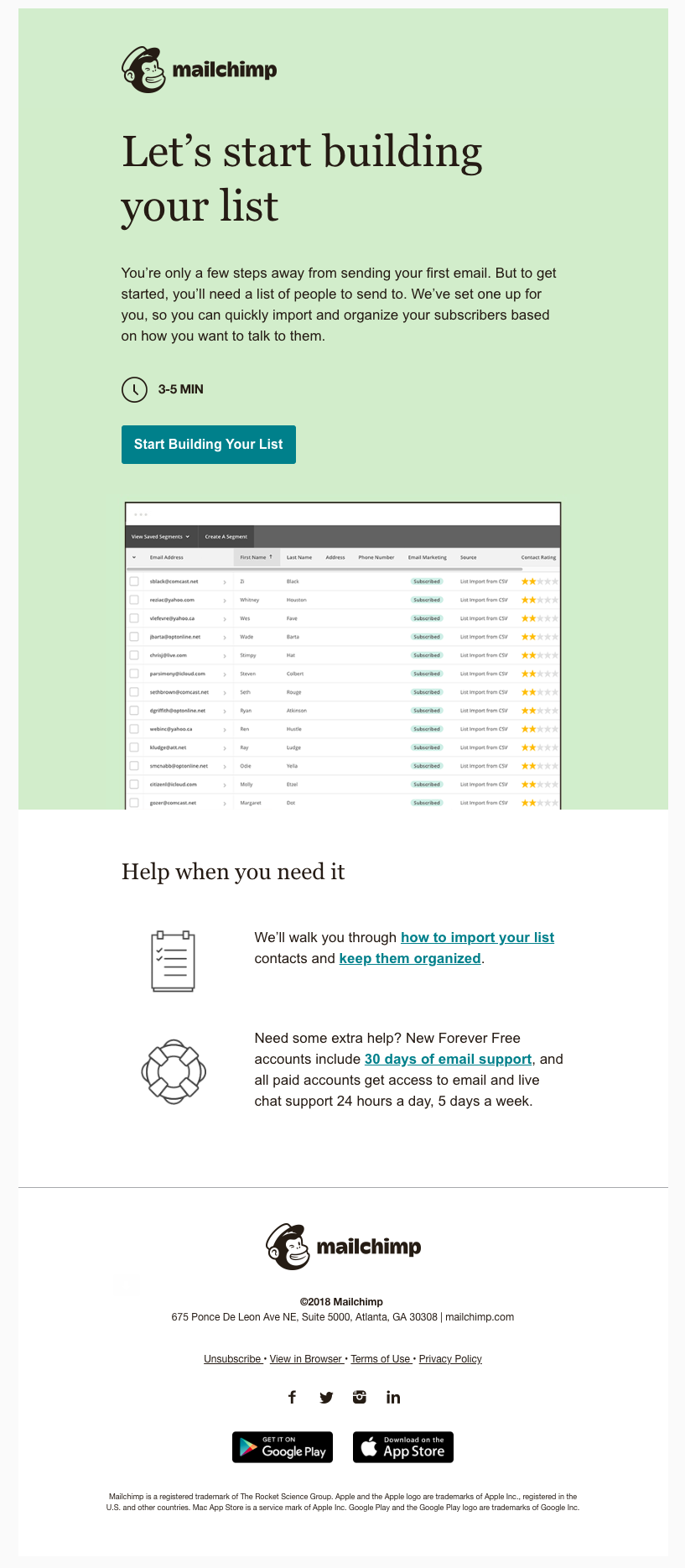 How Mailchimp uses email marketing