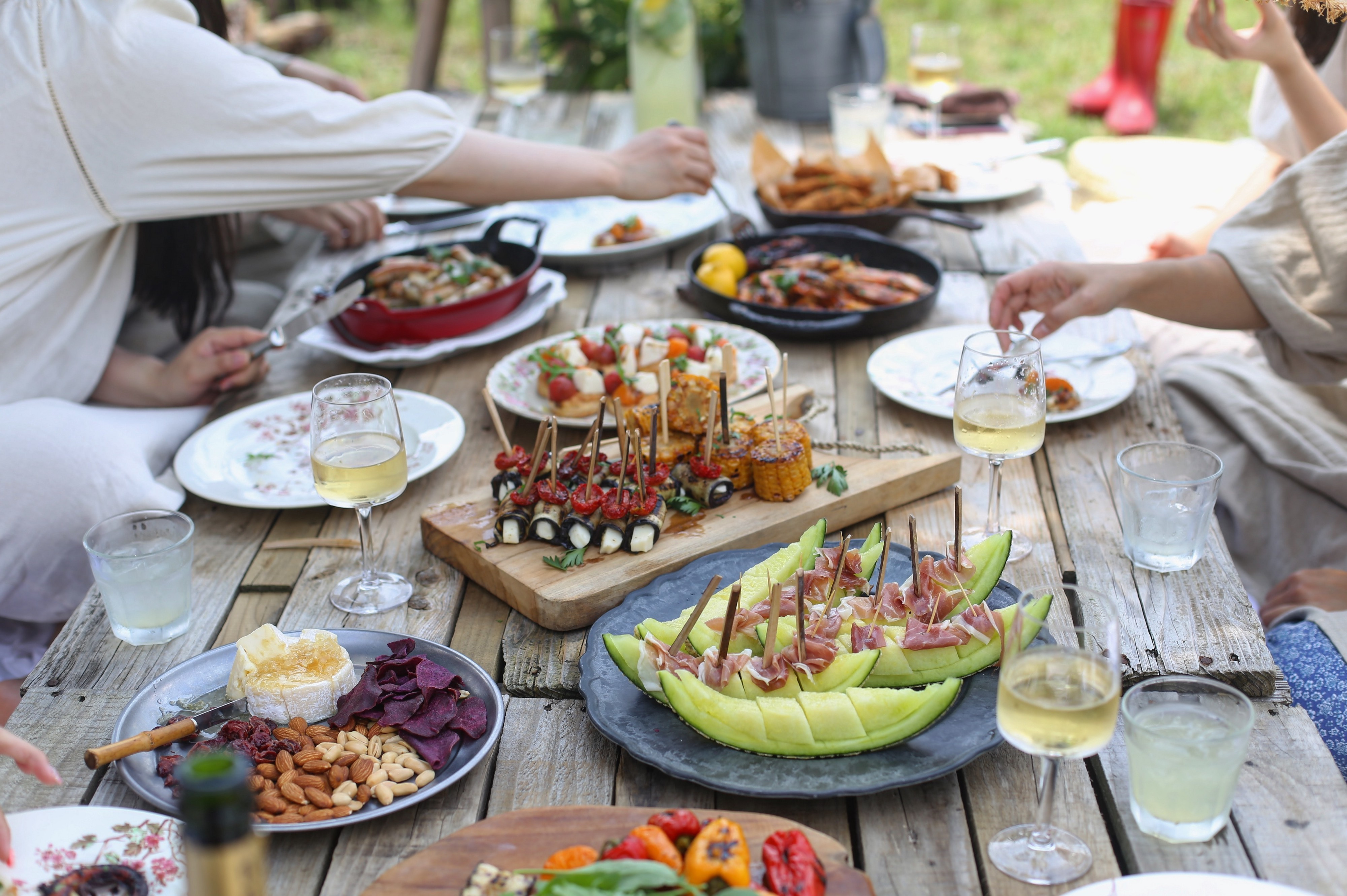 Table of food—Allergy Angst at Parties and Gatherings—Amy Marley