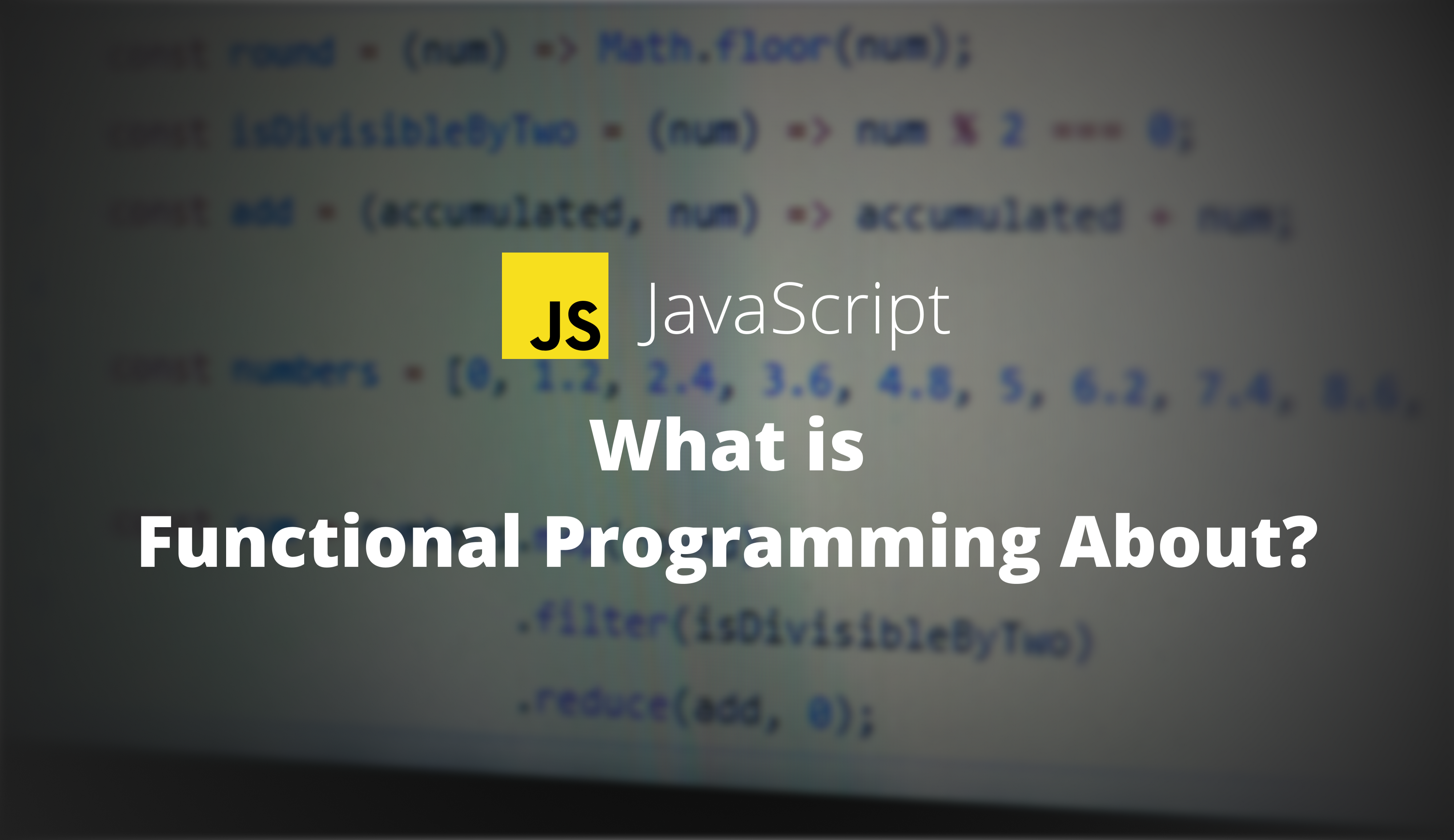 What is functional programming about?