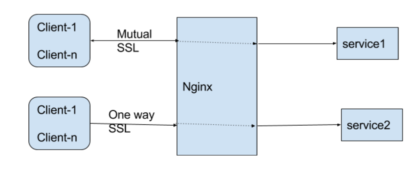 Nginx-Mutual SSL/One way SSL with multiple clients